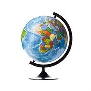 Глобус Земли политический с подсветкой Globen 320 мм Классик (Цвет товара:Черный)