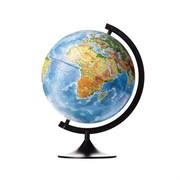 Глобус Земли физико-политический Globen 320 мм с подсветкой Классик (Цвет товара:Черный)