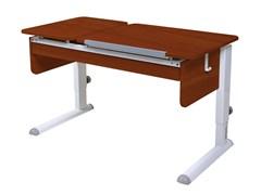 Парта для дома Астек ТВИН-2 с органайзером (Цвет столешницы:Яблоня, Цвет ножек стола:Белый)
