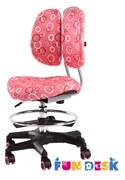 Детское кресло FunDesk SST6 (Цвет обивки:Розовый, Цвет каркаса:Серебро)