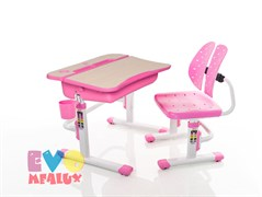 Комплект парта и стульчик Mealux EVO-03 (Клен, Розовый)