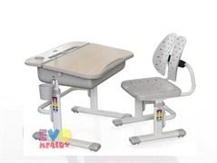 Комплект парта и стульчик Mealux EVO-03 (Клен, Серый)
