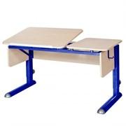 Парта для дома Астек ТВИН-2 (Цвет столешницы:Береза, Цвет боковин:Береза, Цвет ножек стола:Синий)