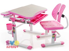Комплект парта и стульчик Mealux EVO-05 (Клен, Розовый)