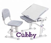 Комплект Cubby парта и стул-трансформеры Lupin WG (Серый)