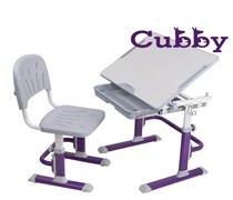 Комплект Cubby парта и стул-трансформеры Lupin VG (Фиолетовый)