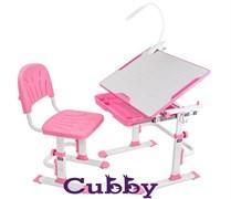 Комплект Cubby парта и стул-трансформеры Lupin WP (Розовый)