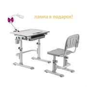 Комплект Cubby парта и стул-трансформеры Karo (Цвет столешницы:Белый, Цвет ножек стола:Серый)