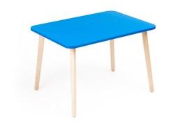 Детский столик Polli Tolli Джери голубой (Цвет столешницы:Голубой, Цвет ножек стола:Береза)