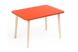 Детский столик Polli Tolli Джери красный (Цвет столешницы:Красный, Цвет ножек стола:Береза)