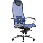 Эргономическое офисное кресло Metta SAMURAI S-1.03 (Цвет обивки:Синий, Цвет каркаса:Серебро)
