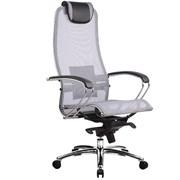 Эргономическое офисное кресло Metta SAMURAI S-1.03 (Цвет обивки:Серый, Цвет каркаса:Серебро)