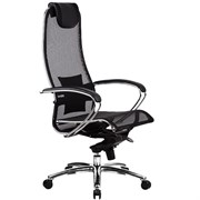 Эргономическое офисное кресло Metta SAMURAI S-1.03 (Цвет обивки:Черный, Цвет каркаса:Серебро)