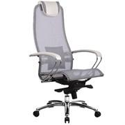 Эргономическое офисное кресло Metta SAMURAI S-1.03 (Цвет обивки:Белый лебедь, Цвет каркаса:Серебро)