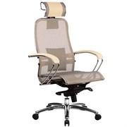 Эргономическое офисное кресло Metta SAMURAI S-2.03 (Цвет обивки:Бежевый, Цвет каркаса:Серебро)