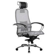Эргономическое офисное кресло Metta SAMURAI S-2.03 (Цвет обивки:Серый, Цвет каркаса:Серебро)