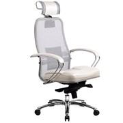 Эргономическое офисное кресло Metta SAMURAI SL-2.03 (Цвет обивки:Белый лебедь, Цвет каркаса:Серебро)