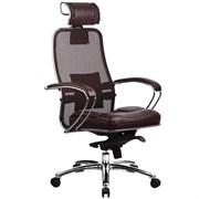 Эргономическое офисное кресло Metta SAMURAI SL-2.03 (Цвет обивки:Темно бордовый, Цвет каркаса:Серебро)