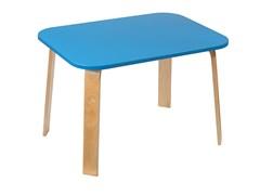 Детский столик Polli Tolli Мордочки голубой (Цвет столешницы:Голубой, Цвет ножек стола:Береза)