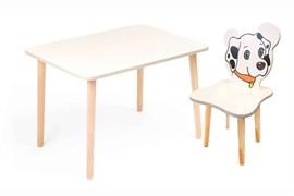 Комплект детской мебели Polli Tolli Джери с белым столиком (Цвет столешницы:Белый, Цвет сиденья и спинки стула:Белый)