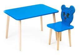 Комплект детской мебели Polli Tolli Джери с голубым столиком (Цвет столешницы:Голубой, Цвет сиденья и спинки стула:Голубой)