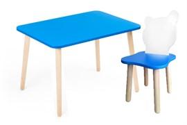 Комплект детской мебели Polli Tolli Джери с голубым столиком (Цвет столешницы:Голубой, Цвет сиденья и спинки стула:Бело-голубой)