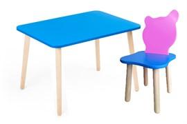 Комплект детской мебели Polli Tolli Джери с голубым столиком (Цвет столешницы:Голубой, Цвет сиденья и спинки стула:Розово-голубой)