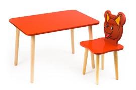 Комплект детской мебели Polli Tolli Джери с красным столиком (Цвет столешницы:Красный, Цвет сиденья и спинки стула:Красный)