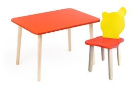 Комплект детской мебели Polli Tolli Джери с красным столиком (Цвет столешницы:Красный, Цвет сиденья и спинки стула:Красно-желтый)