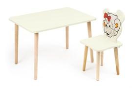 Комплект детской мебели Polli Tolli Джери с ванильным столиком (Цвет столешницы:Ваниль, Цвет сиденья и спинки стула:Ваниль)