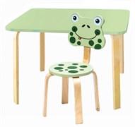 Комплект детской мебели Polli Tolli Мордочки с салатовым столиком (Цвет столешницы:Салатовый, Цвет сиденья и спинки стула:Салатовый)