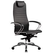 Эргономическое офисное кресло Metta SAMURAI K-1.03 (Цвет обивки:Черный, Цвет каркаса:Серебро)