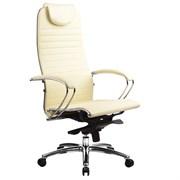 Эргономическое офисное кресло Metta SAMURAI K-1.03 (Цвет обивки:Бежевый, Цвет каркаса:Серебро)