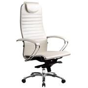Эргономическое офисное кресло Metta SAMURAI K-1.03 (Цвет обивки:Белый лебедь, Цвет каркаса:Серебро)
