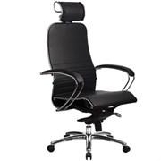 Эргономическое офисное кресло Metta SAMURAI K-2.03 (Цвет обивки:Черный, Цвет каркаса:Серебро)