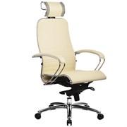 Эргономическое офисное кресло Metta SAMURAI K-2.03 (Цвет обивки:Бежевый, Цвет каркаса:Серебро)