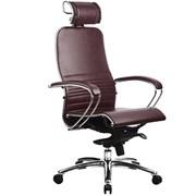 Эргономическое офисное кресло Metta SAMURAI K-2.03 (Цвет обивки:Темно бордовый, Цвет каркаса:Серебро)