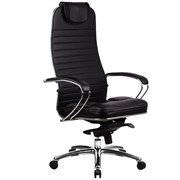 Эргономическое офисное кресло Metta SAMURAI KL-1.03 (Цвет обивки:Черный, Цвет каркаса:Серебро)