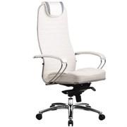 Эргономическое офисное кресло Metta SAMURAI KL-1.03 (Цвет обивки:Белый лебедь, Цвет каркаса:Серебро)