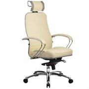 Эргономическое офисное кресло Metta SAMURAI KL-2.03 (Цвет обивки:Бежевый, Цвет каркаса:Серебро)