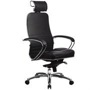 Эргономическое офисное кресло Metta SAMURAI KL-2.03 (Цвет обивки:Черный, Цвет каркаса:Серебро)