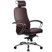 Эргономическое офисное кресло Metta SAMURAI KL-2.03 (Цвет обивки:Темно бордовый, Цвет каркаса:Серебро)