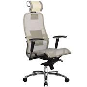 Эргономическое офисное кресло Metta SAMURAI S-3.03 (Цвет обивки:Бежевый, Цвет каркаса:Серебро)