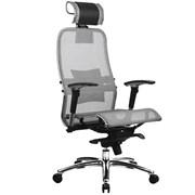 Эргономическое офисное кресло Metta SAMURAI S-3.03 (Цвет обивки:Серый, Цвет каркаса:Серебро)