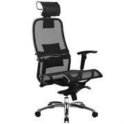Эргономическое офисное кресло Metta SAMURAI S-3.03 (Цвет обивки:Черный, Цвет каркаса:Серебро)