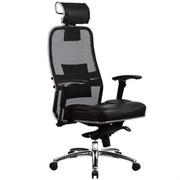 Эргономическое офисное кресло Metta SAMURAI SL-3.03 (Цвет обивки:Черный, Цвет каркаса:Серебро)