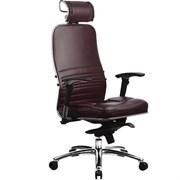 Эргономическое офисное кресло Metta SAMURAI KL-3.03 (Цвет обивки:Темно бордовый, Цвет каркаса:Серебро)