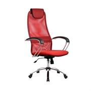 Офисное кресло Metta BK-8 (Цвет обивки:Красный, Цвет каркаса:Серебро)