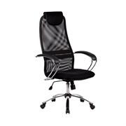 Офисное кресло Metta BK-8 (Цвет обивки:Черный, Цвет каркаса:Серебро)