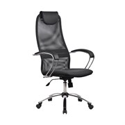 Офисное кресло Metta BK-8 (Цвет обивки:Тёмно - серый, Цвет каркаса:Серебро)